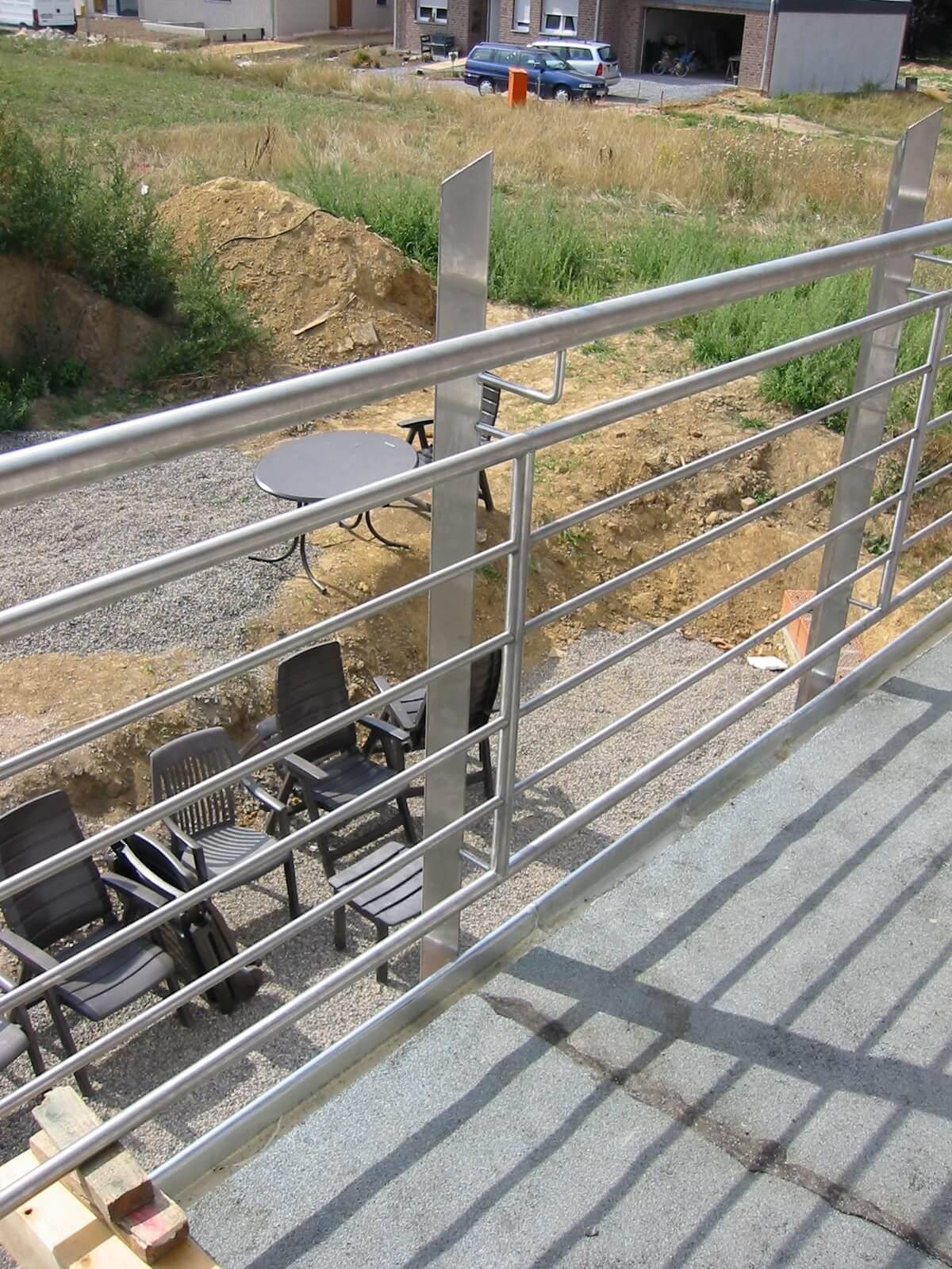 Balkonbrüstung aus Stahl