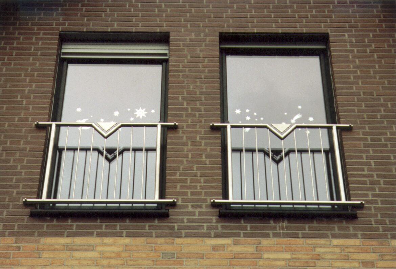 Fenstergitter bei einer Etagenwohnung